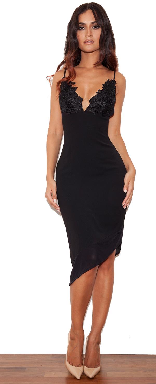 clothing pencil dresses 39 caprice 39 black slip dress with lace applique. Black Bedroom Furniture Sets. Home Design Ideas